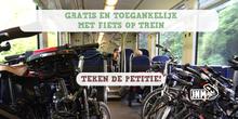 Dégage roept op: hou de fiets op de trein gratis!